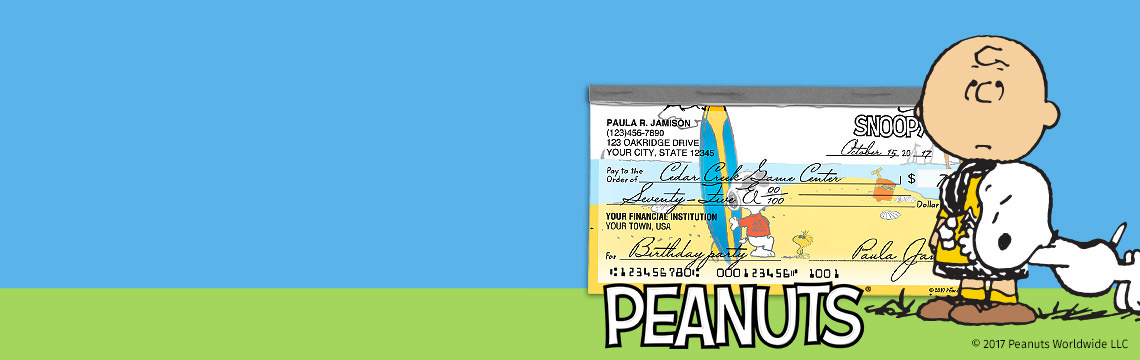Happiness!!! 20% OFF Peanuts® Checks. Use code PEANUTS20. Shop Now.