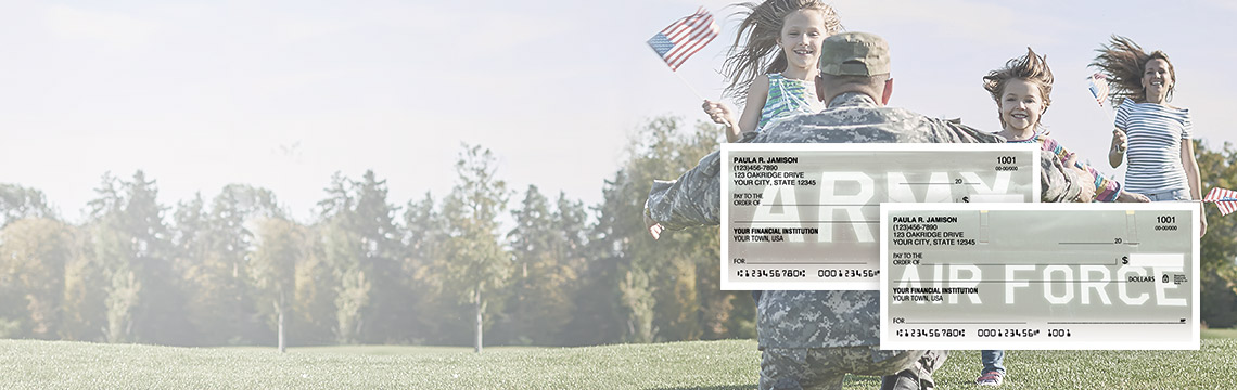 Freedom to Save. 20% OFF on Military & Patriotic Checks with code FLAG20. Shop Now.