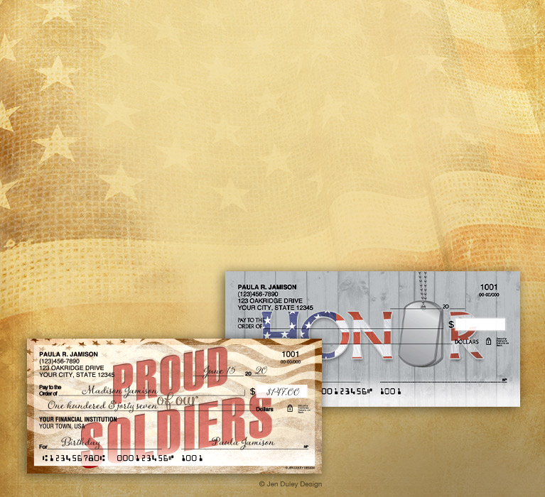 Forever proud! 20% OFF Personal Checks with code VETERAN20. Shop Now.