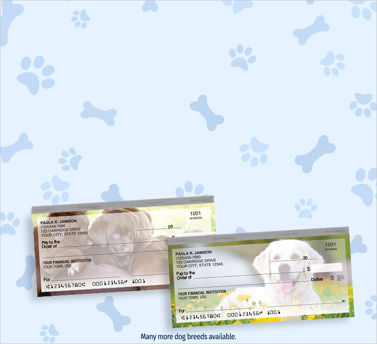 20% off all personal checks. Use offer code PET20. Shop Now.