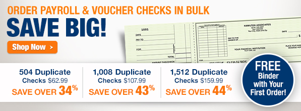Order Payroll & Voucher Checks in Bulk*