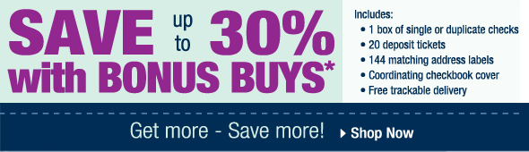 Save up to 30% with Bonus Buys