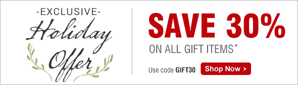 Save 30% on all gift items