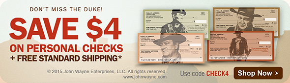 Save $4 off personal Checks (discount per box) with promo code CHECK4 + Free Standard Shipping