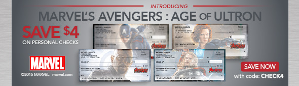 Save $4 on Personal Checks, Avengers