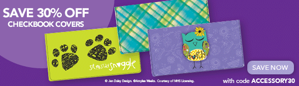 Save 30% Off Checkbook Covers