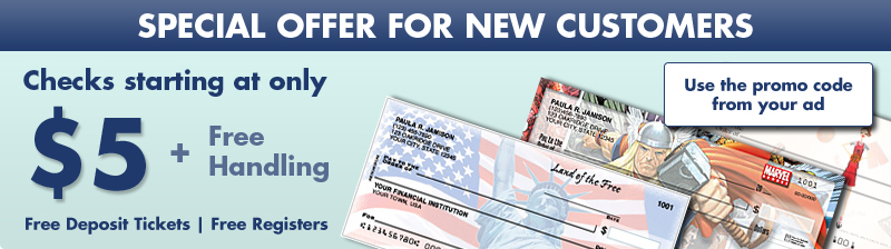 Exclusive Savings for New Customers - Checks as low as $5.00