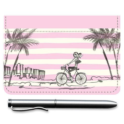 Seaside Escape Leather Checkbook Cover
