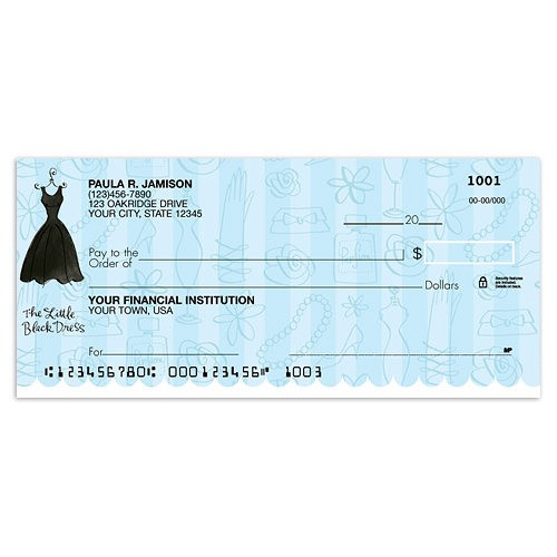 Little Black Dress Checks - Checks In The Mail