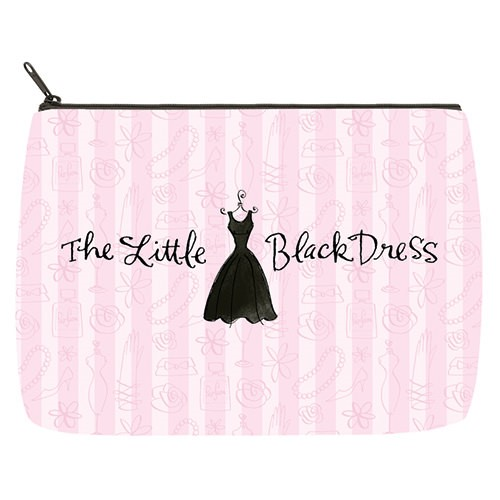 Little Black Dress Large Makeup Bag - Checks In The Mail