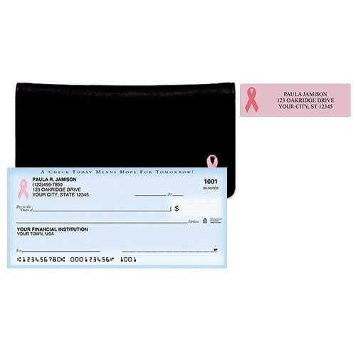 Pink Ribbon Package Deal Checks, Labels, cover