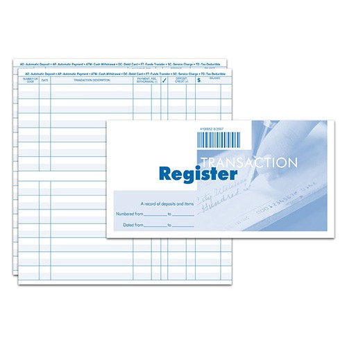 Order Additional Check Registers – Check Registers