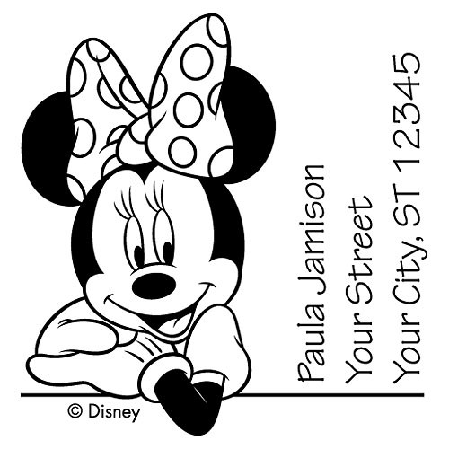 Minnie Mouse Leaning Stamp Checks In The Mail
