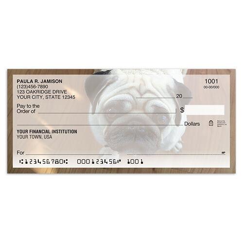 Bug-eyed Pug Personal Checks
