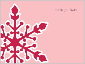 Blush Snowflakes Folded Notes
