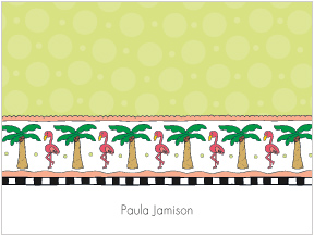 LKD Palm Trees & Flamingos Notes