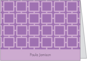 Purple Geo Square Notes
