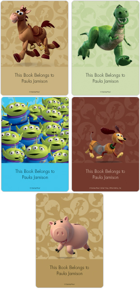 Toy Story 3 Friends Book Plate Labels