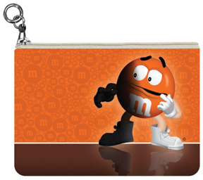 Orange M&M'S Coin Purse