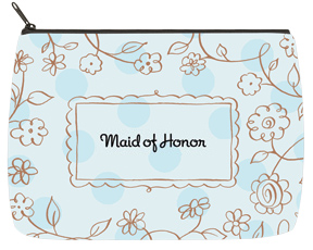 Floral Blue Bridal Bag - Large