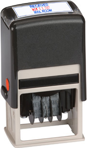 2-Color Self-Inking Date Stamp