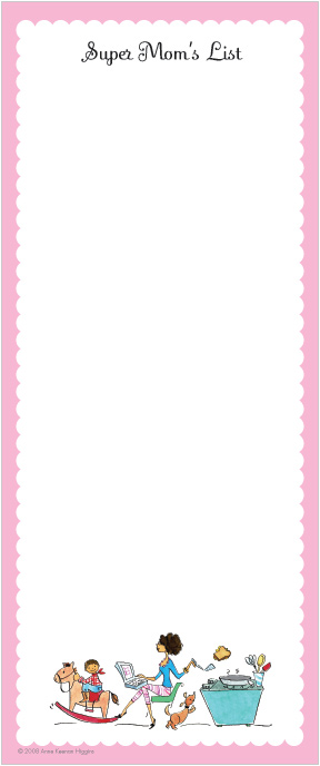 Perfect Mom E-mailing Long Note Pads