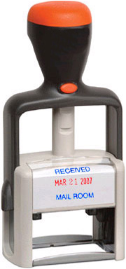 2-Color Heavy Duty Self-Inking Date Stamp