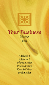 Gold Abstract Business Cards
