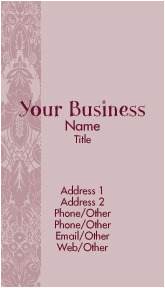 Tapestry Rose Business Cards