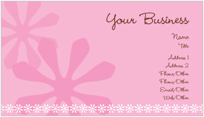 Flower Power Business Cards