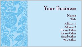 Tapestry Blue Business Cards