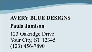 Blue Avery Business Cards