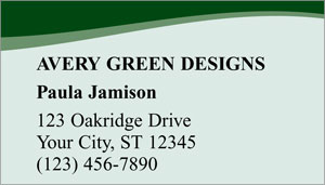 Green Avery Business Cards