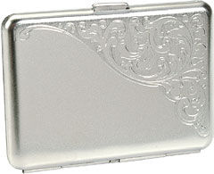 Baroque Silver Nickel Card Case