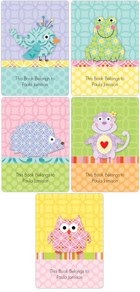 happi Menagerie Book Plate Labels