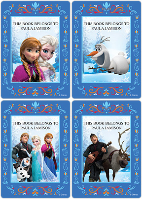 Frozen Book Plate Labels
