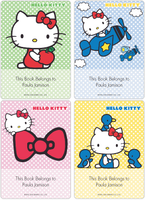 Hello Kitty�  Book Plate Labels