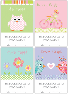 happi Book Plate Labels