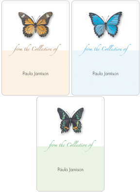 Butterflies Book Plate Labels