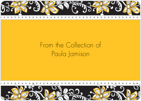 Blossom Yellow Book Plate Labels