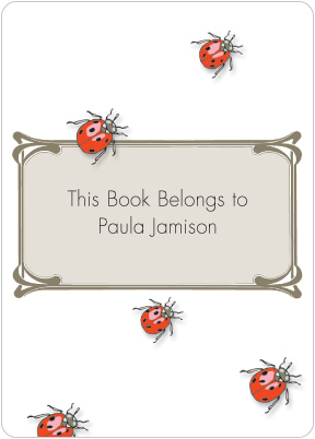 Ladybugs Book Plate Labels