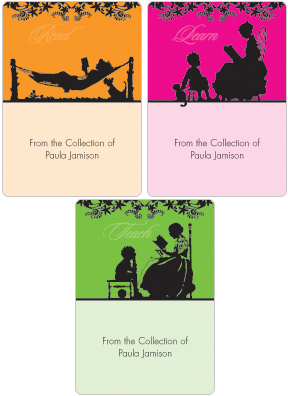 Silhouette Book Plate Labels