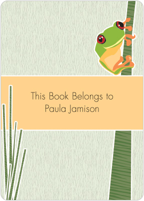 Tree Frog Book Plate Labels