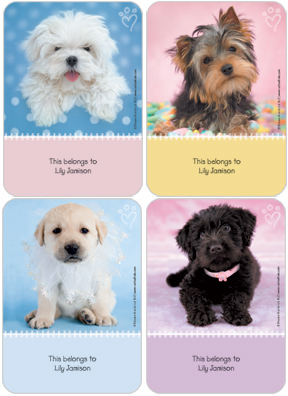 Puppy Love Book Labels