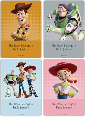 Toy Story 3 Book Plate Labels
