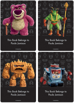 Toy Story 3 Bad Guys Book Plate Labels
