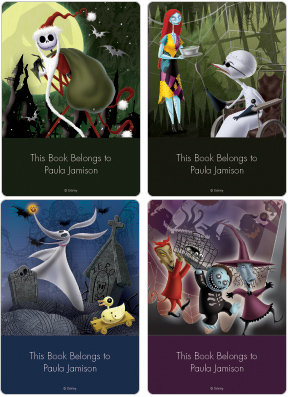 Nightmare Before Christmas Book Plate Labels