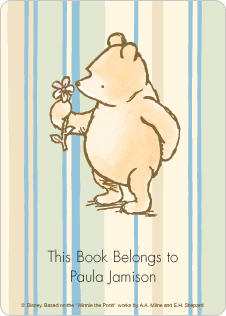 Classic Winnie the Pooh Book Plate Labels