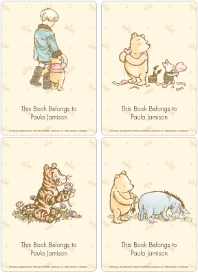 Classic Winnie the Pooh & Friends Book Plate Labels