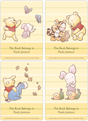 Baby Winnie the Pooh & Friends Book Plate Labels